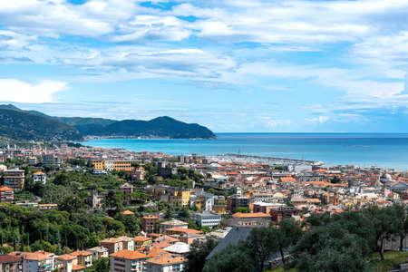 View of the Tigullio bay - Chiavari, Lavagna and Sestri Levante - Ligurian sea - Italy
