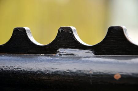 welded: Black fence, close-up