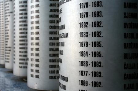 bosnia and hercegovina: Siege memorial in Sarajevo Stock Photo