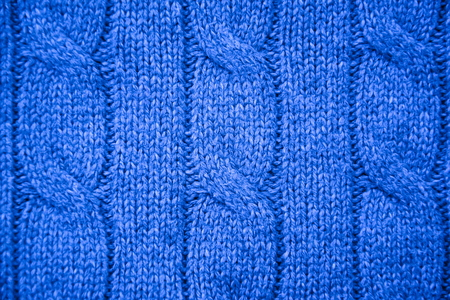 cable stitch: Light-blue cable knit close-up