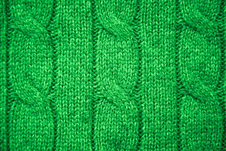 cable knit: Green cable knit close-up