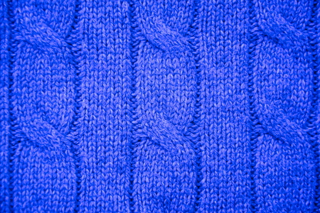 cable stitch: Indigo cable knit close-up Stock Photo