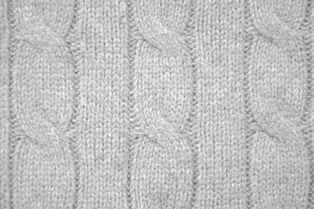 cable stitch: Pearl gray cable knit close-up