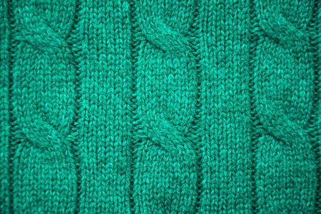 cable stitch: Turquoise cable knit close-up
