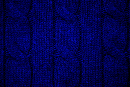 cable stitch: Blue cable knit close-up