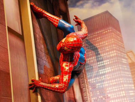 Madame Tussauds wax museum: Spider-man 新闻类图片