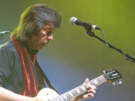 Bologna / Italy - April 27, 2013: Manzoni Theater Bologna. Steve Hackett in concert, Genesis Revisited Tour 2013.