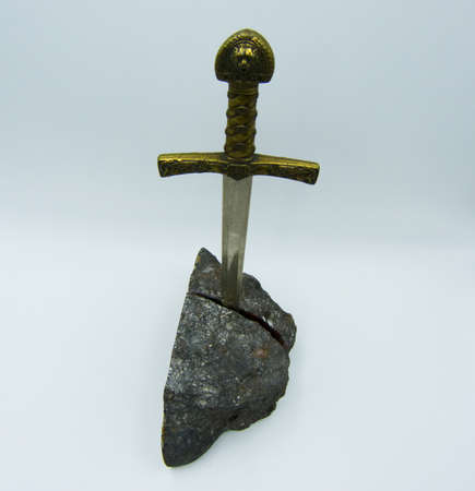 Excalibur the mythical sword in the stone of King Arthur