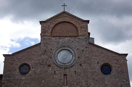 The cathedral of San Gimignano (Duomo di San Gimignano). Basilica of Santa Maria Assunta. Archivio Fotografico