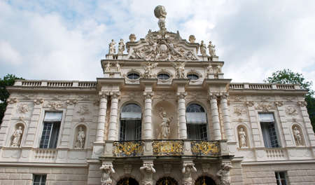 Linderhof Palace built by King Ludwig II in Bavaria. Munich, Germany