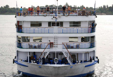 Cruise ship on the Nile river. Nile river cruise. Egypt