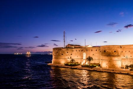 The Aragonese Castle of Taranto, Puglia, Italy