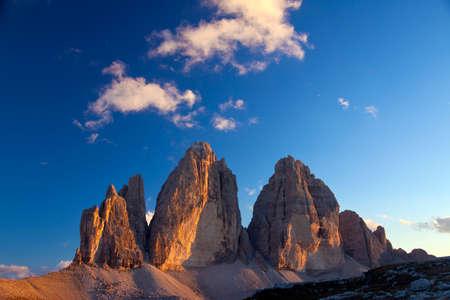 Dolomites. The Three Peaks Banco de Imagens