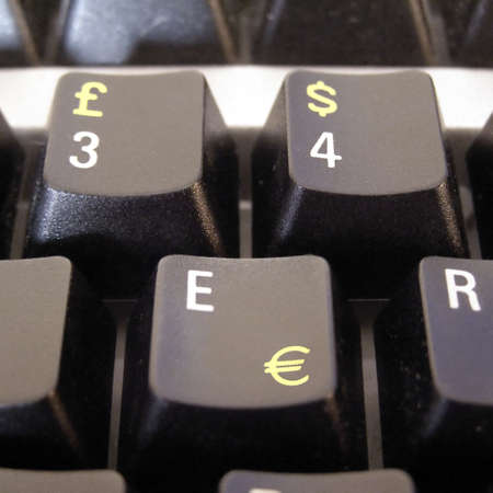 Currency symbols on computer keyboard Stock Photo - 3134094