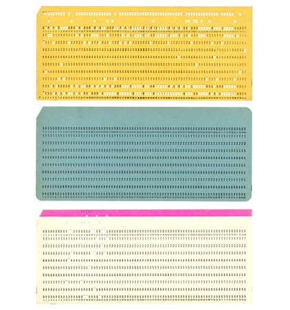 Punched card Stock Photo - 3134414
