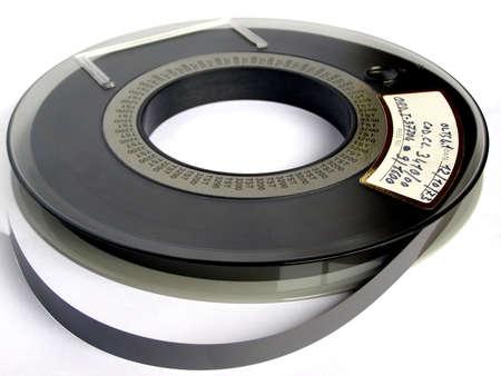 tape cassette: Magnetic tape reel for computer data storage