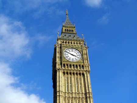 Big Ben London at the Houses of Parliament Westminster Palace photo