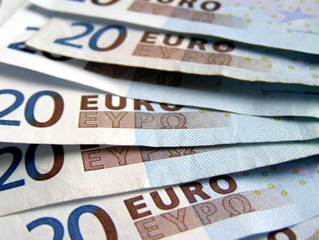 banconote euro: Banconote in euro di denaro