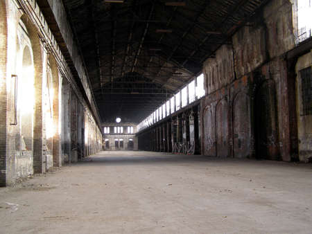 archeology: Industrial archeology of abandoned factory Stock Photo