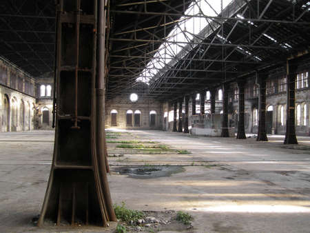 Industrial archeology of abandoned factory Stock Photo