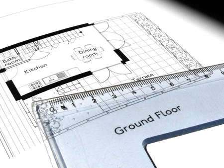 Technical architectural CAD drawing Stock Photo - 3150484