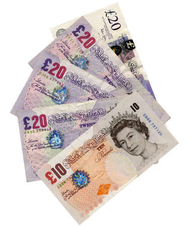 British Pounds banknotes money Stock Photo