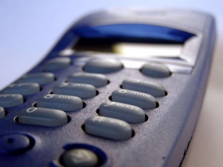 cordless phone: Cordless phone keypad Stock Photo