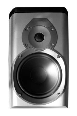 hifi: Stereo hifi speaker Stock Photo