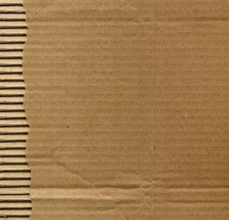 Brown corrugated cardboard sheet background Stock Photo - 3188926