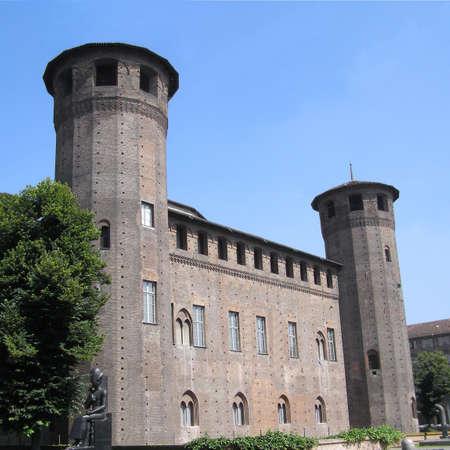 medioeval: Piazza Castello, Turin, Italy Stock Photo