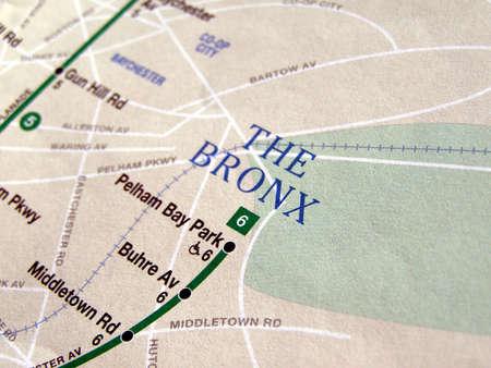 Subway map of the New York underground metro tube network photo
