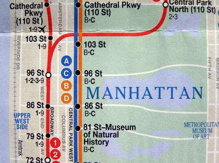 Subway map of the New York underground metro tube network Stock Photo - 3361662