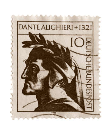 dante alighieri: Dante Alighieri stamp Stock Photo