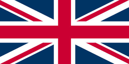 UK Flag Union Jack - Proper normalised ratio (2:1) and colours (RGB 204,0,51 - 255,255,255 - 0,51,102) photo