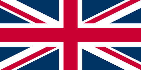 UK Flag Union Jack - Proper normalised ratio (2:1) and colours (RGB 204,0,51 - 255,255,255 - 0,51,102) photo
