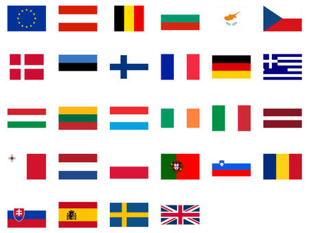 Flags of the European Union Stock Photo - 3529073