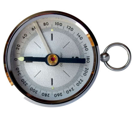 devised: Compass navigation instrument for finding north direction Stock Photo