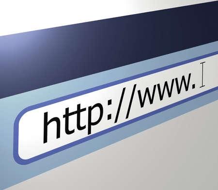 worldwide web: En todo el mundo la l�nea de direcciones del navegador web Foto de archivo