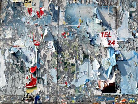 hoarding: Hoarding billboard coloured decollage background Stock Photo