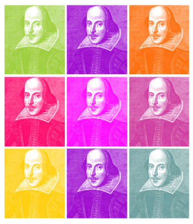 Shakespeare in Pop (based on an engraving of William Shakespeare from the First Folio of 1623)