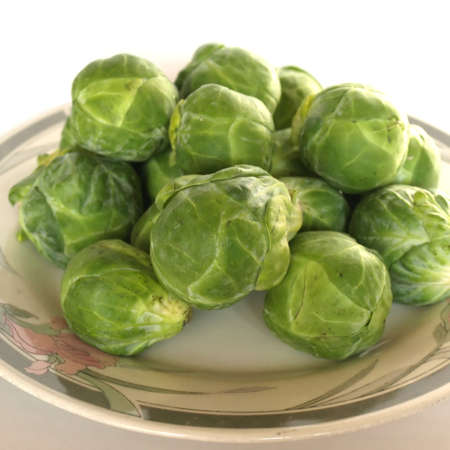 brussel: Brussel sprouts mini cabbages isolated
