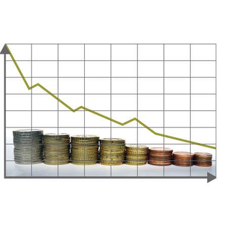 Crisis chart Stock Photo - 3736833