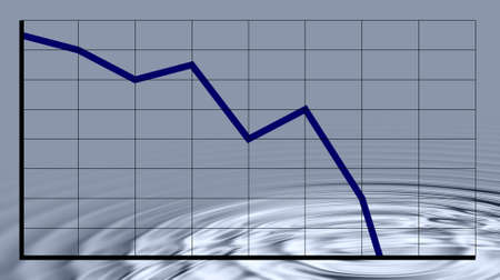 Crisis chart Stock Photo - 3754766