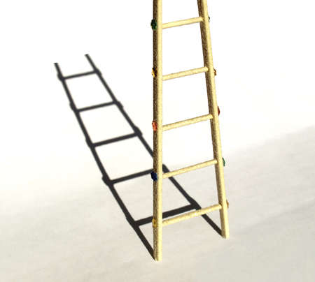 rungs: Modelo escalera duro con sombra Foto de archivo
