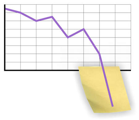 slowdown: Crisis chart Stock Photo