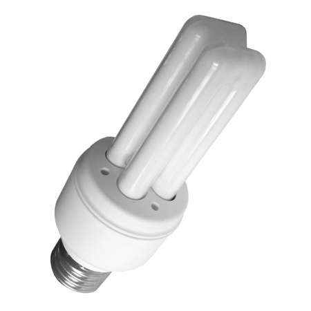 Compact fluorescent low energy light bulb Imagens