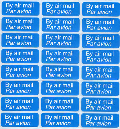 par: Airmail labels