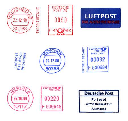 German postage meters Stock fotó