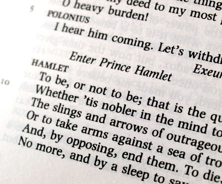 Shakespeares Hamlet To be or not to be