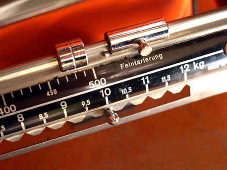 Cocina balanza de peso o masa instrumento de medida Foto de archivo - 3792743